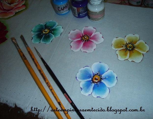 pintura em tecido pap flor