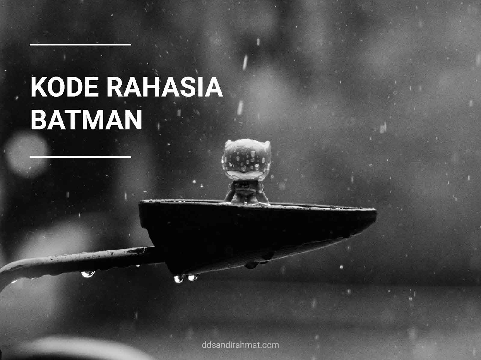 Kode Batman Indomaret