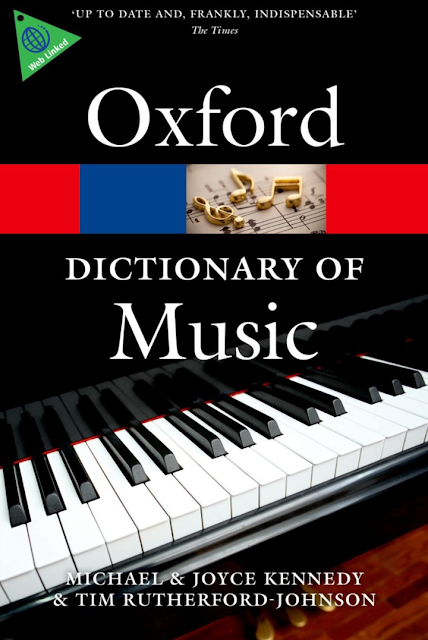 Oxford Dictionnary of musique قاموس الموسيقى الخاص بجامعة