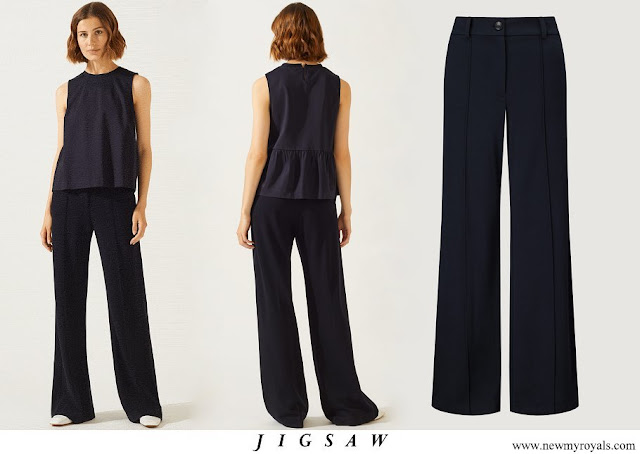 Kate Middleton wore Jigsaw High Waisted Sport Luxe Trousers
