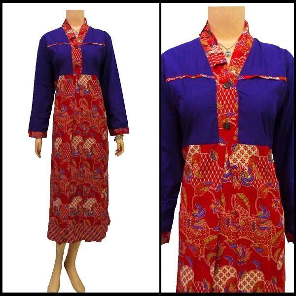 Model Baju Gamis Perpaduan Batik: 10+ Model Baju Batik Gamis Keren