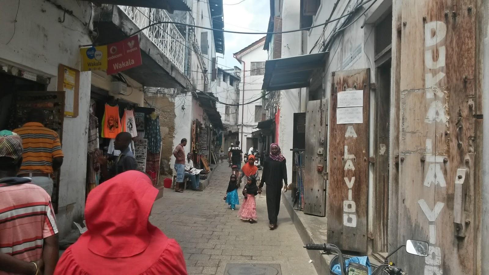 zanzibar stone town afrika streets