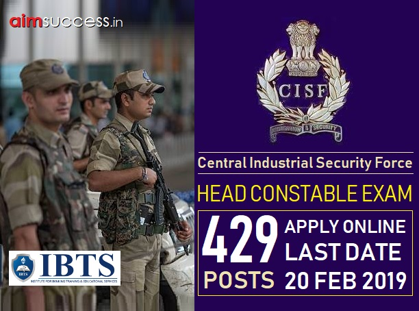 CISF Head Constable Exam 2019: Apply Online for 429 Posts