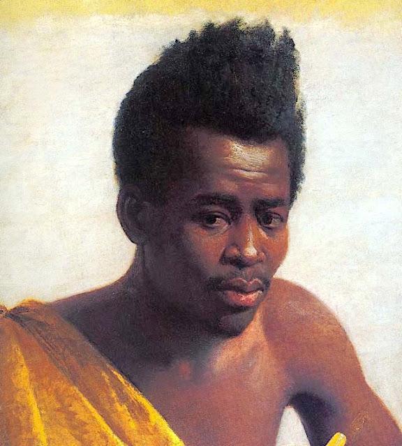 Nikiforos Lytras (1832-1904) Christos le Nigérien (1873-74) Oil on canvas, 44 x 39,5 cm Collection privée