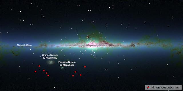novas galáxias satélites anãs recém descobertas