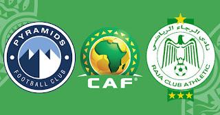 مشاهدة مباراة الرجاء ضد بيراميدز 4-4-2021 بث مباشر في الكونفدرالية الافريقية