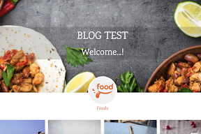 Foods template Blogger