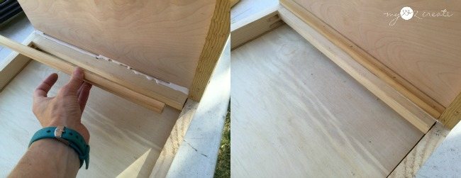 adding wooden drawer glides