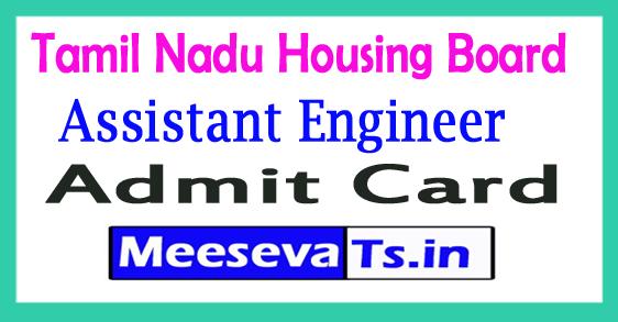 Tamil Nadu Housing Board Junior Assistant Engineer Admit Card 2017