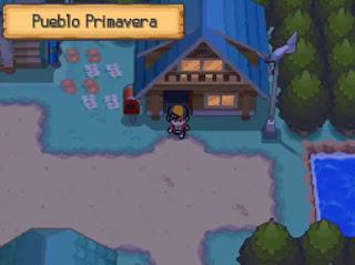 Pokemon Sacred Gold en Español para NDS Pueblo Primavera