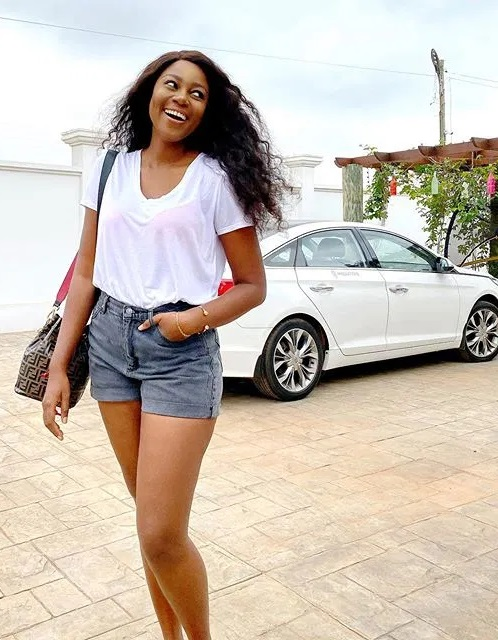 Yvonne Nelson shows off her long legs in new photos