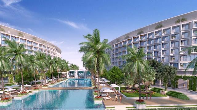 Hồ bơi đại đương 4125m2 Condotel Grand World Phú Quốc