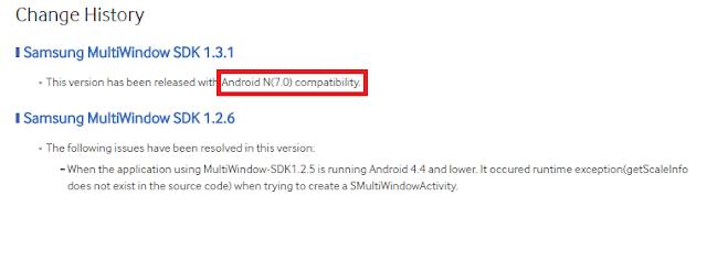 Nomer versi Android N terungkap di Samsung Developer Kit