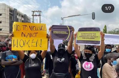 Tonto Dikeh Protest Against Rape In Nigeria