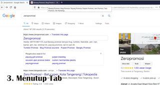 Menutup Tab merupakan fungsi lain tombol scroll pada mouse