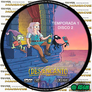 GALLETA 2 DISENCHANTMENT - DESENCANTO - (DES)ENCANTO [COVER-DVD]