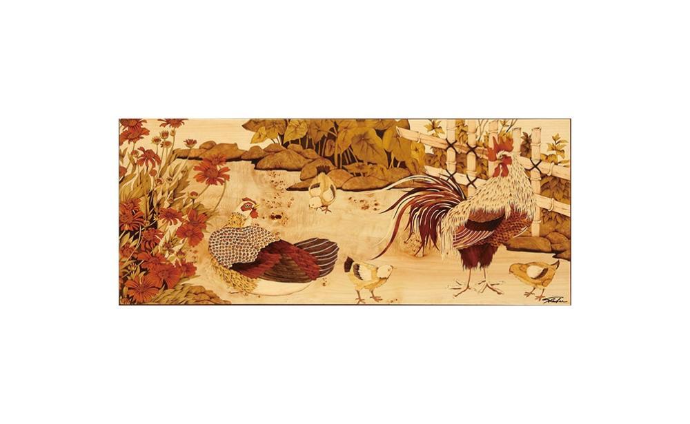 Sandy老師創作理念:「雞的台語『家』,天地是咱的家,家是咱的情,也是咱的底(根)。家是咱的成長所在(地方),也是咱甜蜜的負荷。」