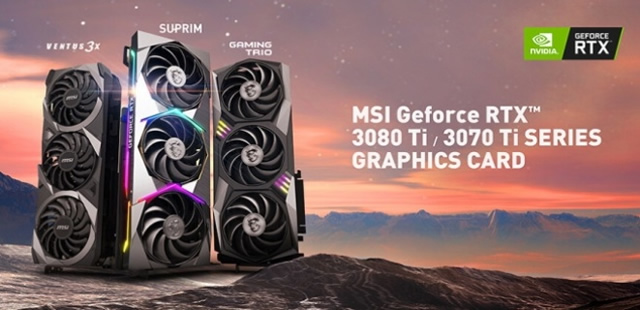 MSI has released three new series of GeForce RTX 30 Ti graphics cards