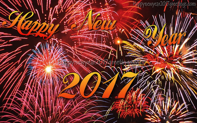 Happy New Year 2017 Fireworks Desktop Background