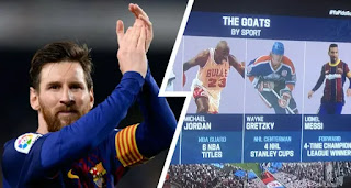Messi named GOAT of football right during Super Bowl stream
