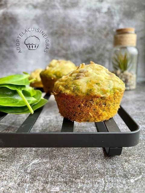 Muffins thon épinards chèvre - IG bas