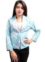 Model Atasan Batik Blazer Untuk Kerja Wanita Terbaru