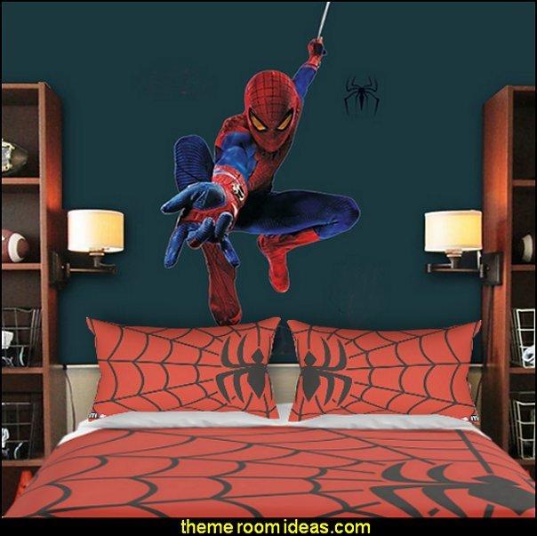 spiderman bedroom decorating ideas -   Spiderman bedding Spider-man room decor spiderman wall decals  Marvel Heroes
