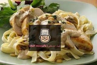 Pasta with mushroom and cream