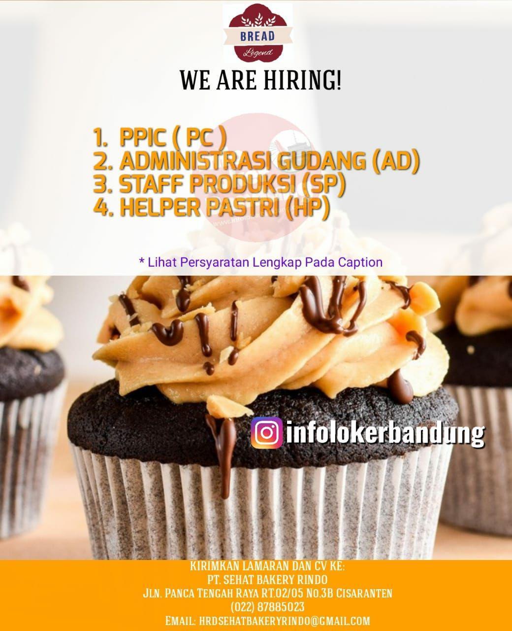 Lowongan Kerja PT. Sehat Bakery Rindo Bandung Juni 2019