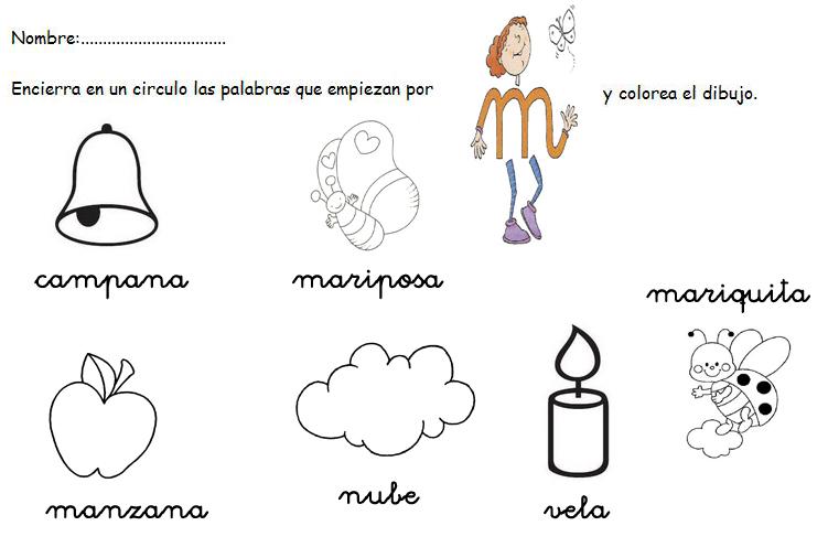 El TIC Tac De Infantil: Fichas De Escritura. Letra M