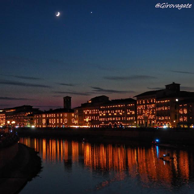 Luminara Pisa lungarni