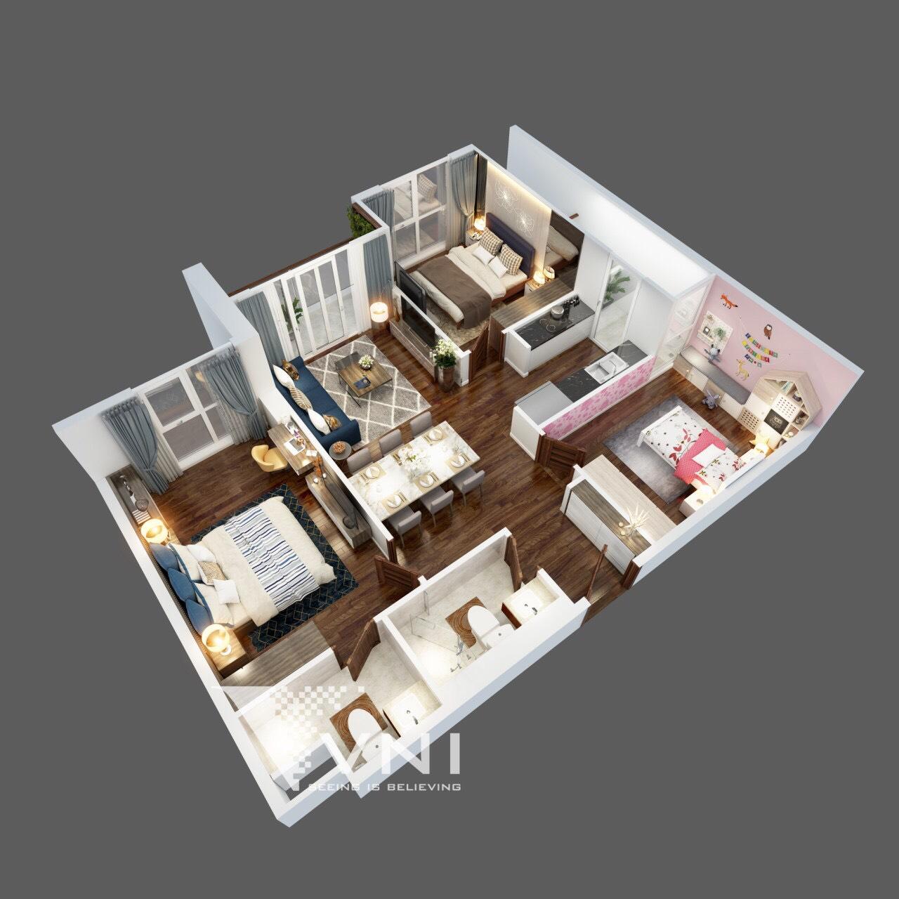 Thiết kế căn hộ The Terra An Hưng