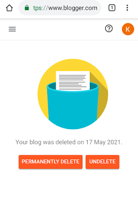How to delete blogger blog permanently