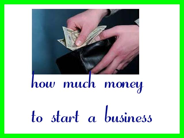 how much money to start a business