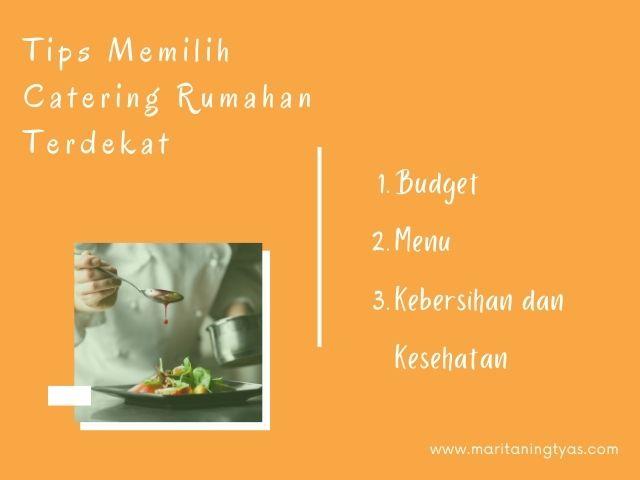 tips memilih catering rumahan