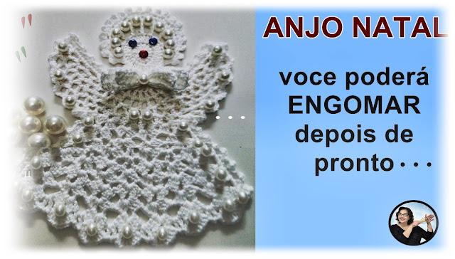 Anjo Natal em Crochê Curso Edinir Croche Aprender Croche Instagram Facebook Pinterest Youtube