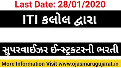 ITI Kalol Job vacancy, ITI Job Bharti, Maru Gujarat ITI Job, Ojas Maru Gujarat, ITI Job Recruitment 2020.
