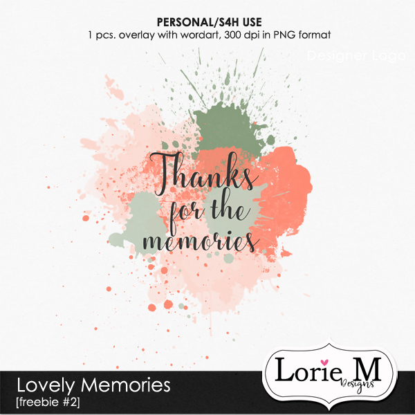 "New ""Lovely Memories Bundle + FWP"" $4.99 only"