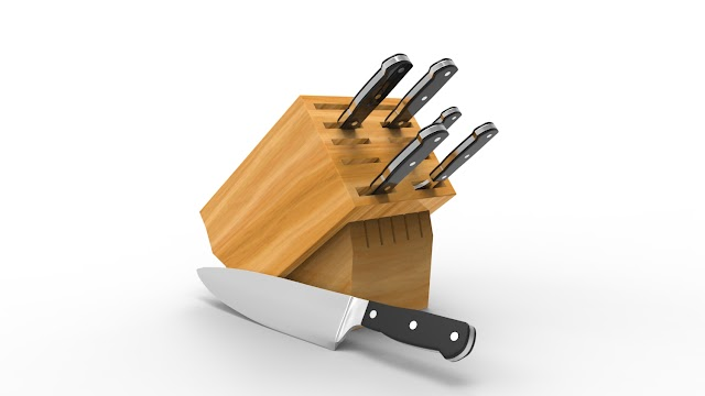 Knife set 3d model free download obj,maya,low poly