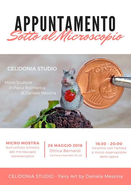 Locandina della Mostra di Miniature e Micro Scultura di Celidonia