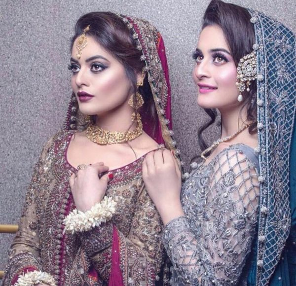 Aiman Minal latest pics 2017,Aiman Minal latest bridal shoot 2017,twin sisters Aiman Minal  pics 2017,