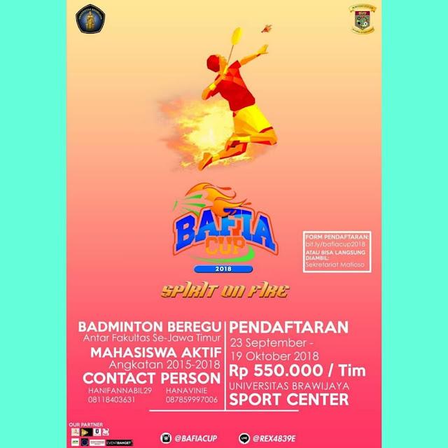 Kompetisi Badminton BAFIA Cup 2018 UB