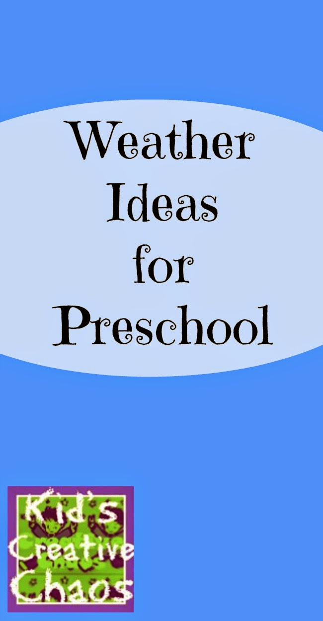 Weather Ideas for Preschool.
