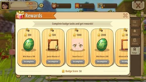 Việc đạt huy hiệu còn khiến cho người chơi chiếm hữu được một số điểm dường như dùng để đổi quà khuyến mãi