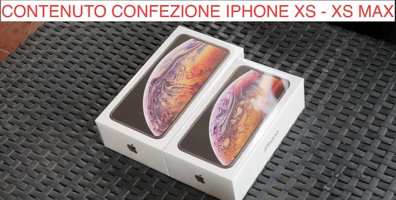 CONTENUTO CONFEZIONE IPHONE XS XS MAX
