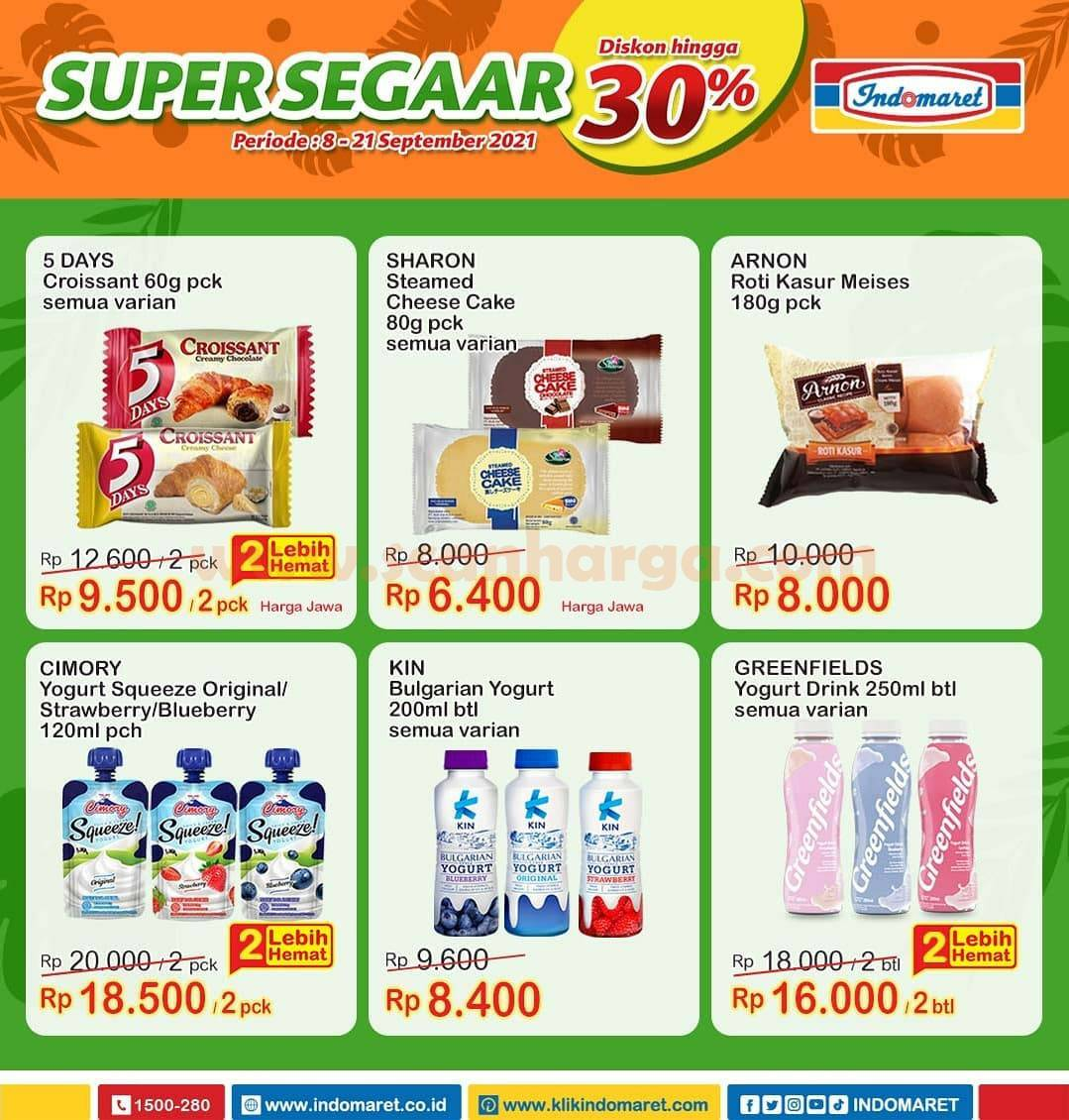 Promo INDOMARET Produk SUPER SEGAAR Periode 8 - 21 September 2021 1