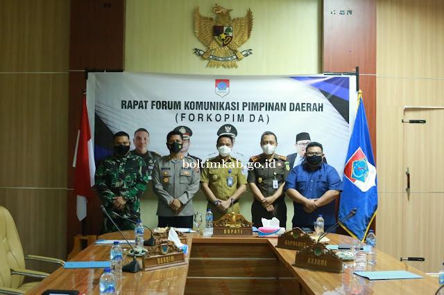 Sam Sachrul Mamonto Pimpin Rapat Forkopimda Bolaang Mongondow Timur.lelemuku.com.jpg