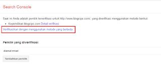 #Gambar 3 Cara Verifikasi Blog Ke Google Webmaster
