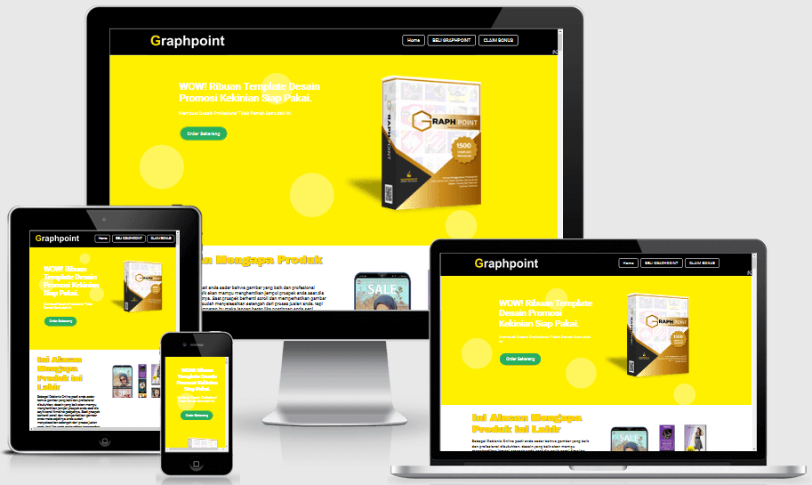 Graphpoint Responsive Landing Page Blogspot
