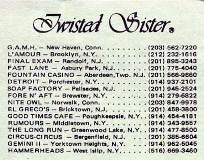Rock club listings